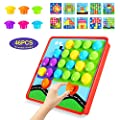 Geekper Button Art Color Matching Mosaic Pegboard Set Early Learning Educational Toys for Kids