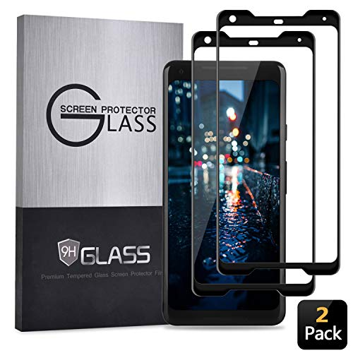 Google Pixel 2 XL Screen Protector,(2 Pack) Case-Friendly Tempered Glass,Anti-Bubble,Anti-Scratch,9H Hardness Clear Film for Google Pixel 2 XL(Newest Version) (Not for Pixel 2) (Black)