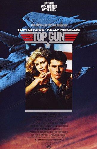 (Tom Cruise and Kelly McGillis in Top Gun movie art 24x36 Poster)