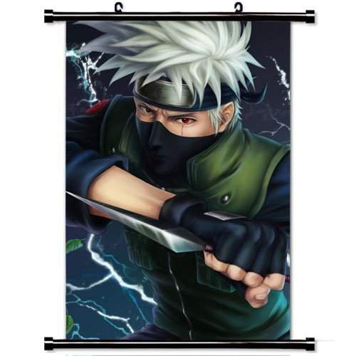 Wall scroll poster naruto hatake kakashi solo gloves leaves