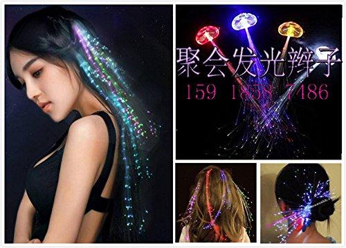 HOT LED braided silk fiber braided fiber wig hairpin 288 flash bar Disco party supplies -