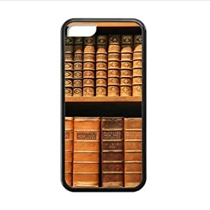 linJUN FENGBest Seller - Personalized Bookshelf Design Apple iphone 4/4s TPU (Laser Technology) Case, Cell Phone Cover