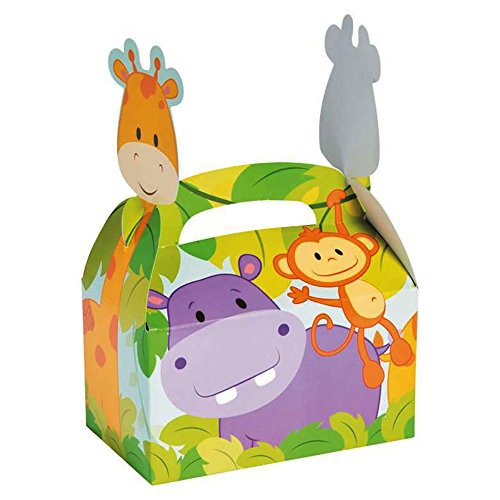 Safari Zoo Animal Treat Boxes - Great Addition for Animal Theme Parties, Gift, Goody Bags (24 Boxes) (Safari Treats)