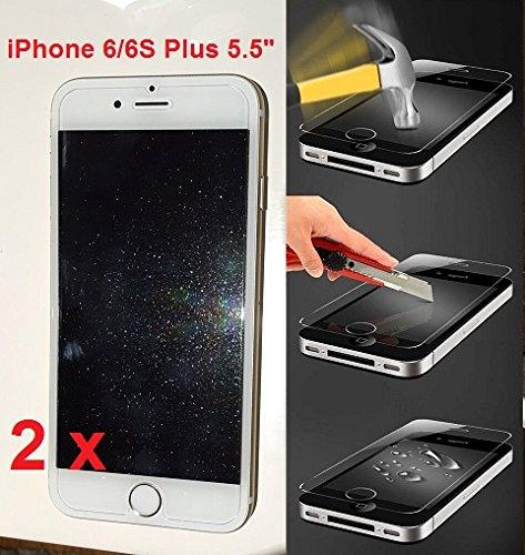 Powerdigital(tm) [[ 2 Pack ]] Glitter Diamond Sparkling Tempered Glass Screen Protector for Apple iPhone 6 Plus 5.5, iPhone 6S Plus 5.5