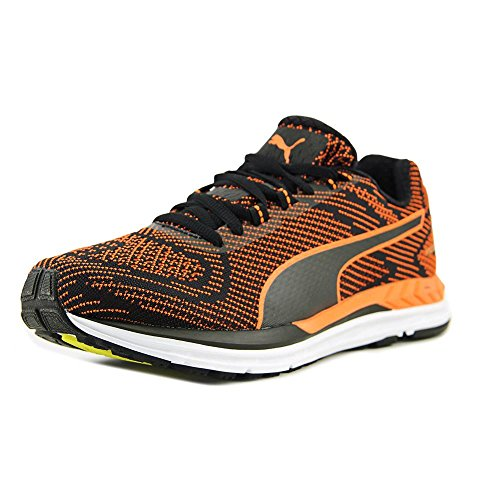 Cheap PUMA Mens Speed 600 S Ignite Low Top Lace up, Black-Shocking Orange, Size 9.5