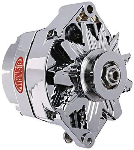 (Powermaster Performance 17294-367 Chrome Alternator (12SI 100A 1V Pulley & Cone 1 or 3 Wire))