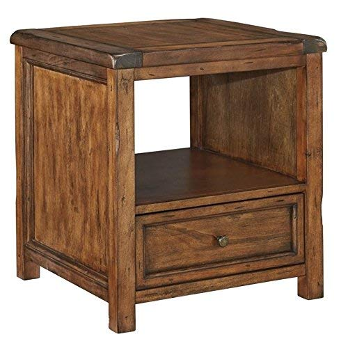 Signature Design by Ashley T830-2 Square End Table Medium Brown