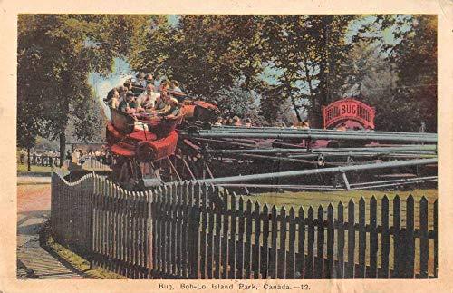 Bob-Lo Island Park Canada Bug Amusement Ride Vintage Postcard JJ649339