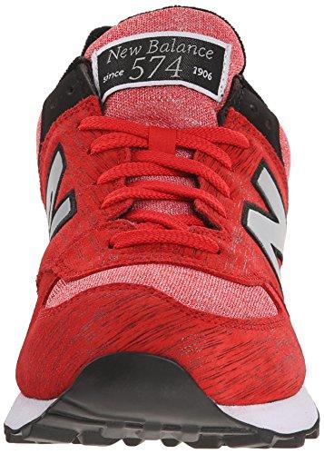 New Balance Nbml574Mon - Zapatillas de deporte para hombre Rojo - Rouge (Ttb Red/Black)