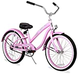 Firmstrong Bella Classic Girl's Single Speed Cruiser Bicycle, 20-Inch, Pink