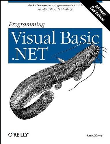 Programming Visual Basic .NET