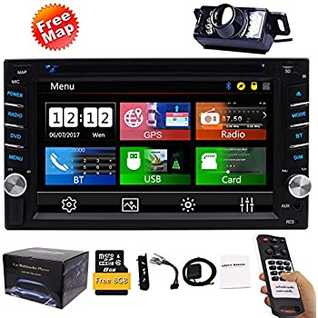 Amazon gps navigation steering wheel control 2 din car dvd cd free backup camera included new design double din car stereo dvd player gps navigation radio bluetooth 2 din capacitive touch screen support usd sd 1080p asfbconference2016 Gallery