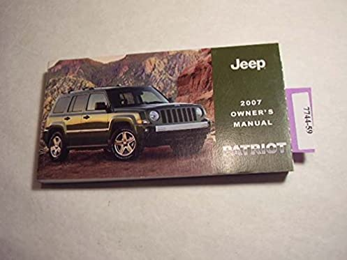 2007 jeep patriot owners manual jeep amazon com books rh amazon com 2005 Jeep Liberty Manual Online Jeep Liberty Schematics