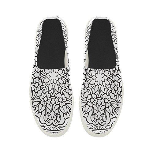 Mens Sneaker Slip Mandalas on Shoes Custom Flower Story Microfiber D wFq0SZcw