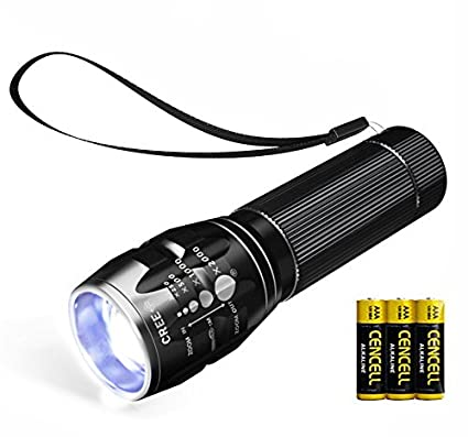 Outdoor Portable Led Flashlight Battery Powered Uv Handheld Spot Light Lamp For Outdoor Camping Hiking Emergency Flashlights & Torches Portable Lighting