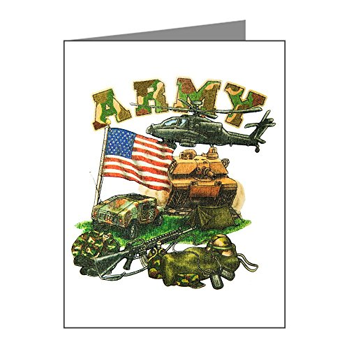 (Note Cards (10 Pack) Camouflage US Army Helicopter Tank)
