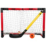 Franklin Sports Hockey Goal Set - NHL - Includes Adjustable Goal, Hockey Stick, and Ball