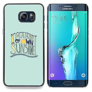 Stuss Case / Funda Carcasa protectora - Summer Surf Fun Sol Citar Texto - Samsung Galaxy S6 Edge Plus / S6 Edge+ G928