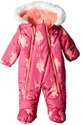 us-polo-assn-baby-girls-pearlized-cire-logo-hooded-pram-pink-moon-3-6-months