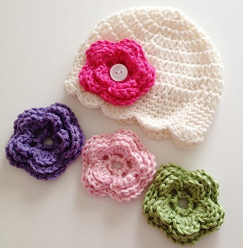 Amazon Newborn Baby Girl Hat With Flowers In Sizes Up To 10