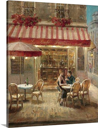 Danhui Nai Premium Thick-Wrap Canvas Wall Art Print Paris Cafe II