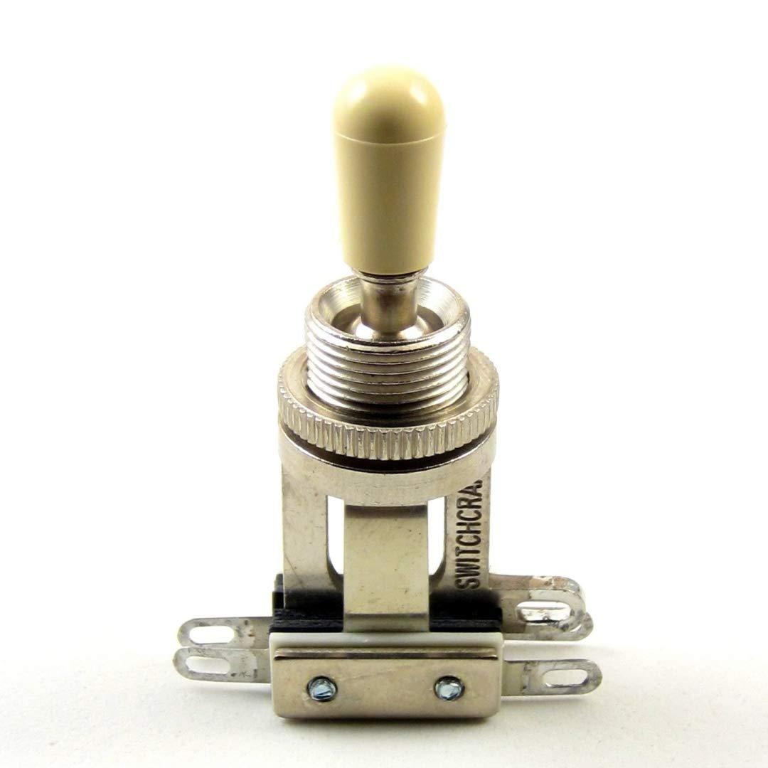 Switchcraft 3-Way Short Toggle Switch w// Genuine Switchcraft Cream Tip