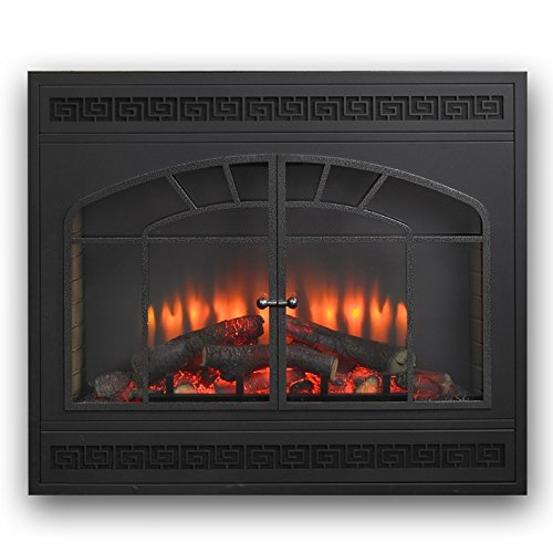 Cheap Outdoor Greatroom Greatco Electric Fireplace Front for GBI-34 in Matte Black Black Friday & Cyber Monday 2019