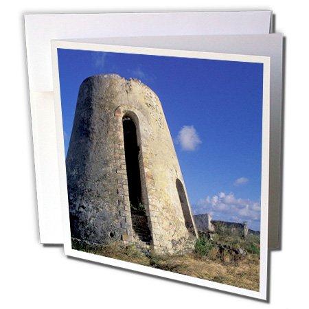 3dRose Danita Delimont - Plantations - US Virgin Islands, St. Croix. Sugar Mills plantation-CA37 BBA0001 - Bill Bachmann - 12 Greeting Cards with envelopes (gc_74402_2)