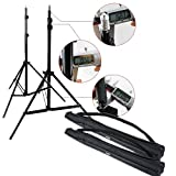 CanadianStudio Fully adjustable 2 x 7ft light stand with heavy duty carring case