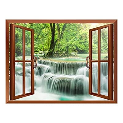 Lovely Handicraft, Waterfall in Thailand Removable Wall Sticker Wall Mural, Made With Love