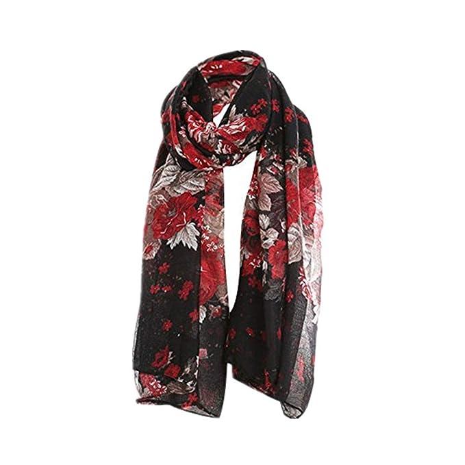 raccolto acquisto economico scarpe da corsa 🧣🧣HYIRI Women's Ladies Flowers Print Pattern Lace Long Scarf ...