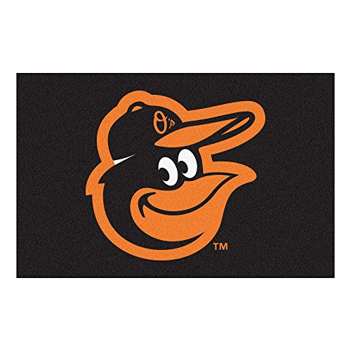Baltimore Orioles Rug - FANMATS 15171 MLB - Baltimore Orioles Cartoon Bird Starter Rug