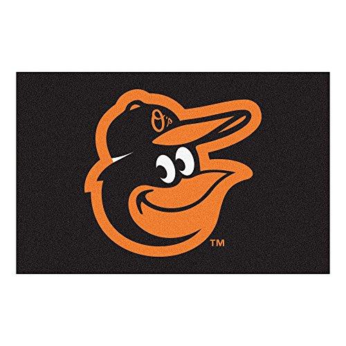 FANMATS 15171 MLB - Baltimore Orioles Cartoon Bird Starter Rug (Baltimore Orioles Rug)