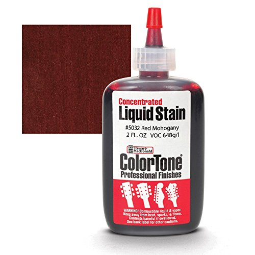 ColorTone Liquid Stain for Stringed Instruments, Red - Mahogany Dye Wood