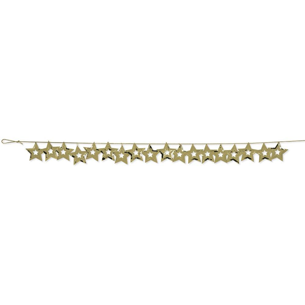 Gold 031015 Creative Converting 12-Count Metallic Stars Confetti Party Garlands