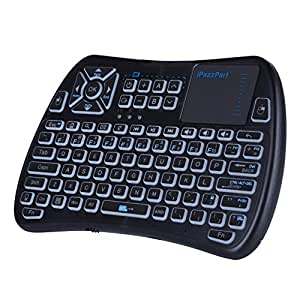 2018 tv remote ipazzport rgb backlit mini wireless keyboard touchpad mouse tv. Black Bedroom Furniture Sets. Home Design Ideas