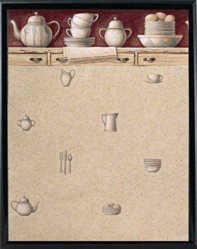 Kitchen Wallpaper Framed Print 18.04