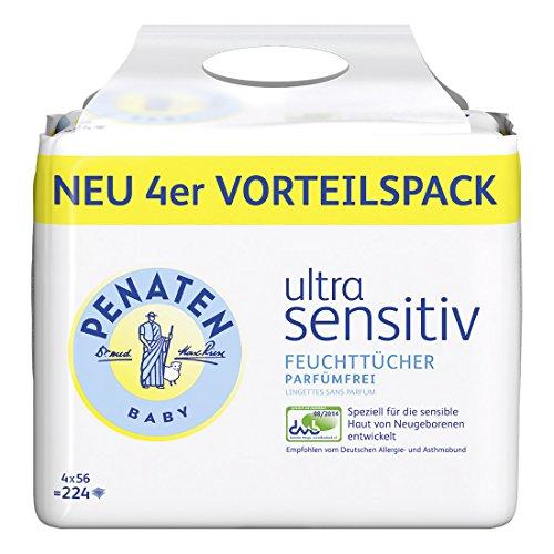 Penaten Ultra Sensitiv Tücher parfümfrei, 3er Pack (3 x 224 Stück)