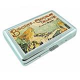 chocolat dispenser - Metal Silver Cigarette Case Vintage Poster D-055 Biscuits & Chocolat Delacre