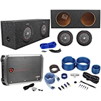 (2) Kicker 43CWRT101 COMPRT10 10 1600W Subwoofer+sSealed Box+Mono Amp+Wire Kit