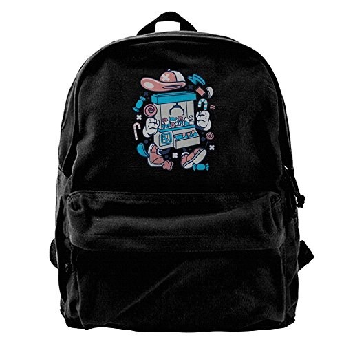 Kingser Crane Machine T Shirt Clip Art 38145 Canvas Shoulder Backpack Mountain Backpack For Men & Women Teens College Travel Daypack ()
