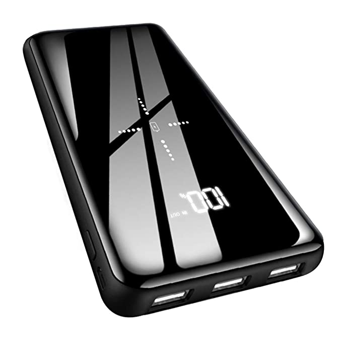 067f01b1240824 Wireless Portable Charger Power Bank 25000mAh - High Capacity with LCD  Digital Display,3 USB