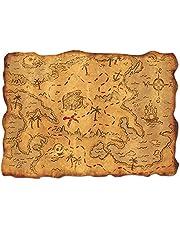 Plastic Treasure Map Party Accessory