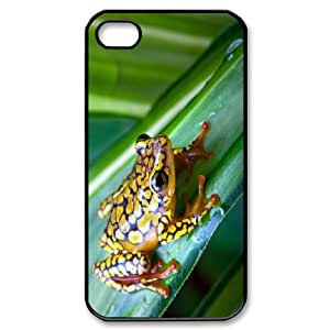 Cathyathome the Frog IPhone 4/4s Case Wood Frog, Antishock the Frog, {Black}