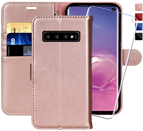 (Galaxy S10 Wallet Case, 6.1 inch,MONASAY [Included Screen Protector] Flip Folio Leather Cell Phone Cover with Credit Card Holder for Samsung Galaxy)
