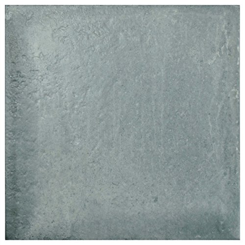 SomerTile Grey/Blue FGFRUSGR Rusticas Porcelain Floor and Wall Tile, 13