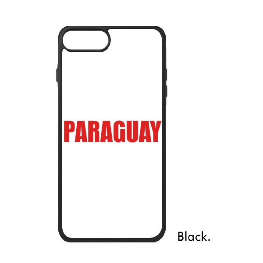Amazon.com: Paraguay Country Name Red iPhone 8/8 Plus Cases ...