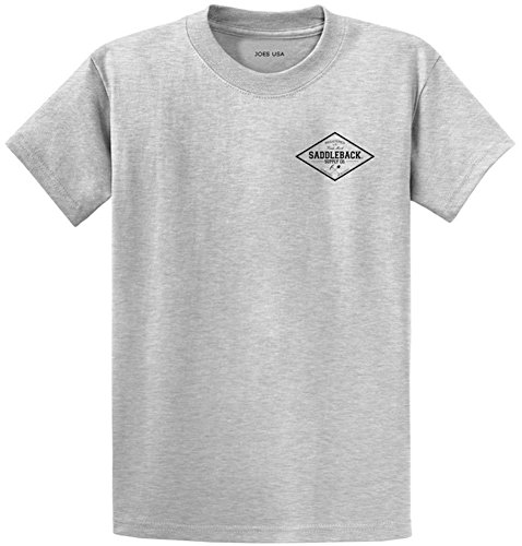 Saddleback Supply Diamond Logo Heavyweight Cotton T-Shirt-Ash/c-L (Cotton Cl)
