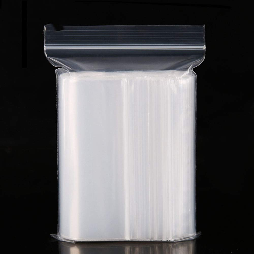 Heavy Duty Grip Seal Re-Sealable Clear Polythene Bags