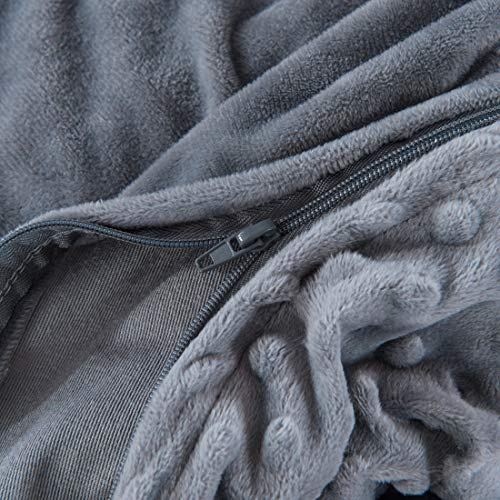 Royhom Embossed for Weighted Blanket with Zipper Ties, x
